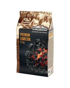 Lesno oglje KINGSTONE Premium (2,5 kg, 100 % FSC les, primerno za brezdimne žare)