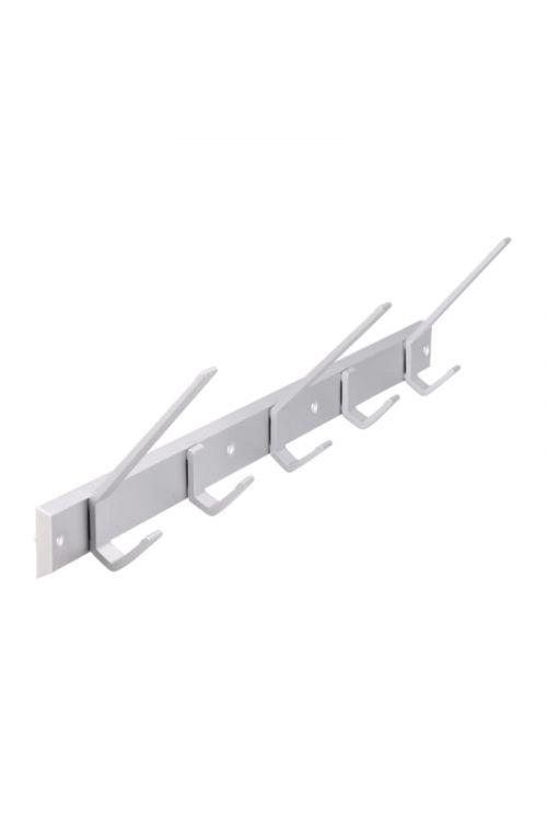 Garderobna letev (aluminijast, 8 kavljev, dolžina: 55 cm)