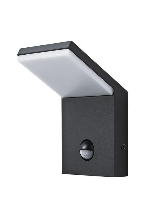 LED ZUNANJA STENSKA SVETILKA GENOVA S SENZORJEM (9,5 W, 810 lm, 3.000 K, IP54 , d 10,5 x š 10 x v 16,4 cm)