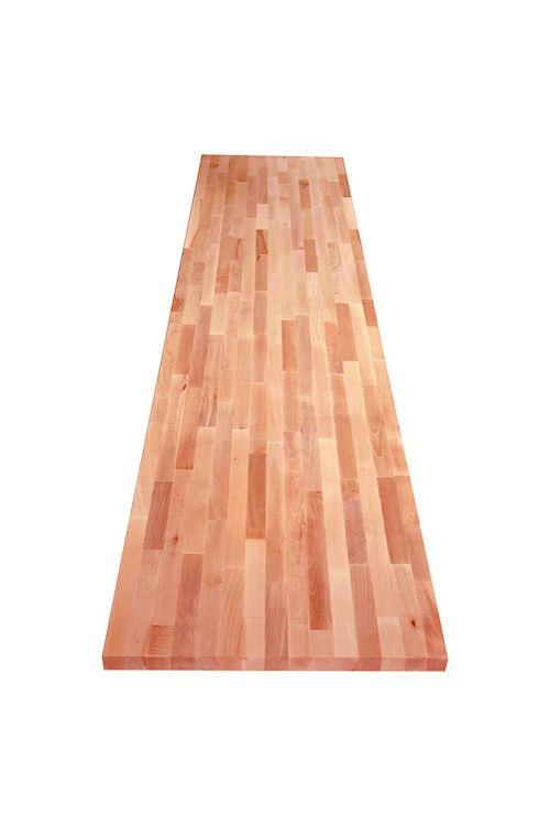 Delovna plošča Exclusivholz (2.600 x 800 x 27 mm, klasa C/C, bukev, masivna)