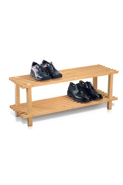 Stojalo za čevlje (v 30 x š 77 x d 26 cm, leseno)