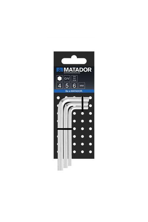 Komplet imbus ključev Matador (3-delni, 4, 5, 6 mm)