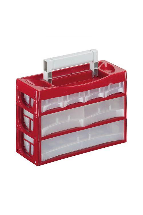 Predalnik SORTUS P7 (7 predalov, rdeče barve)