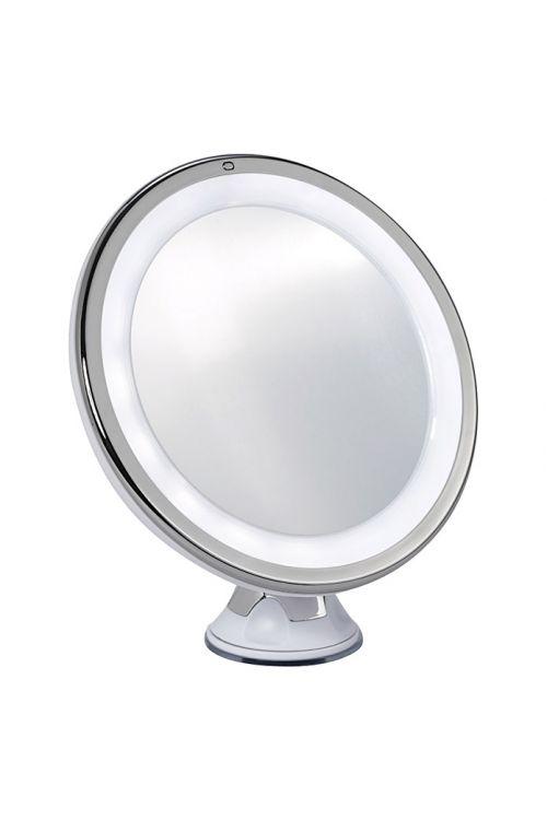 Kozmetično ogledalo Linda (LED, 10x povečava, okroglo)