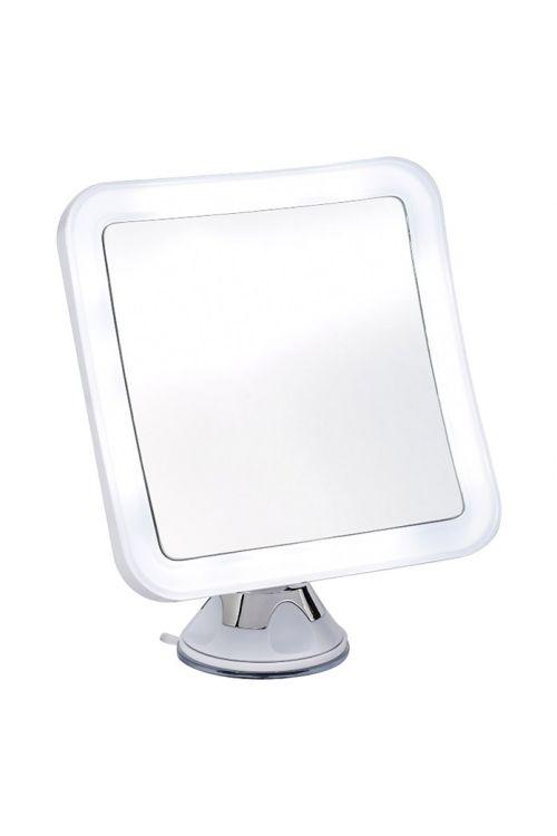 Kozmetično ogledalo Linda (10x povečanje, z osvetlitvijo, na baterije, kvadratno)