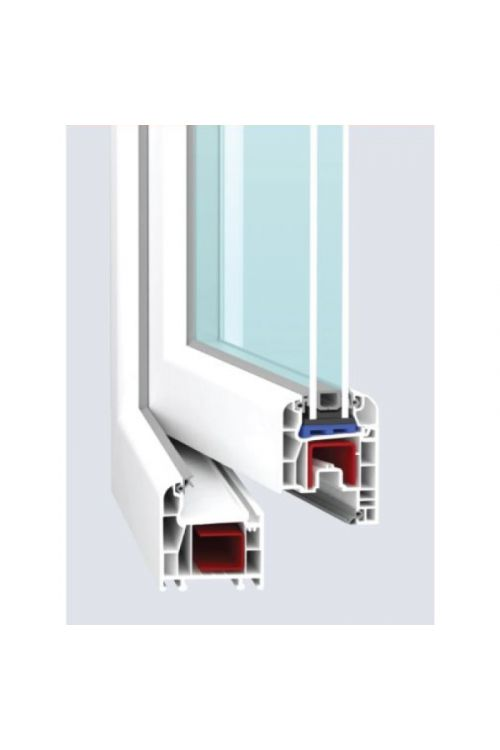 PVC okno Solid Elements Eco (1200 x 1200 mm, belo, desno, dvojna zasteklitev, 3-komorno)