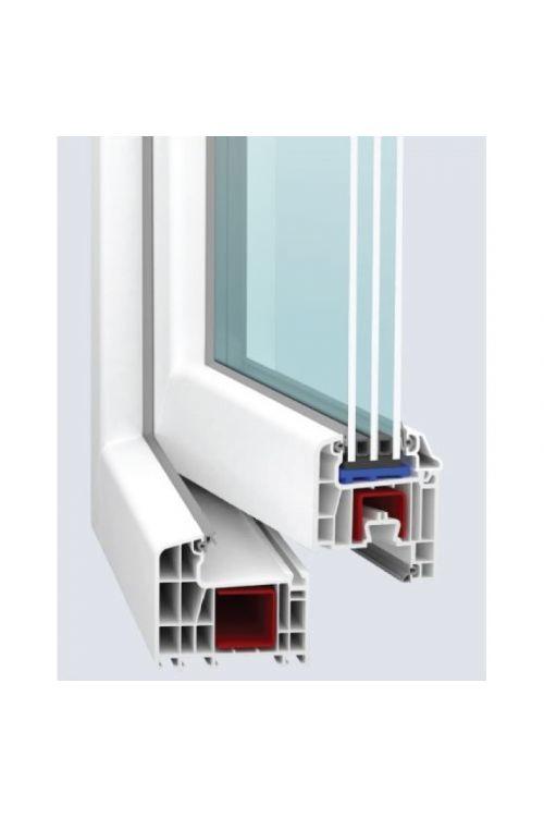 PVC okno Solid Elements (1200 x 1200 mm, belo, levo, trojna zasteklitev, 6-komorno)