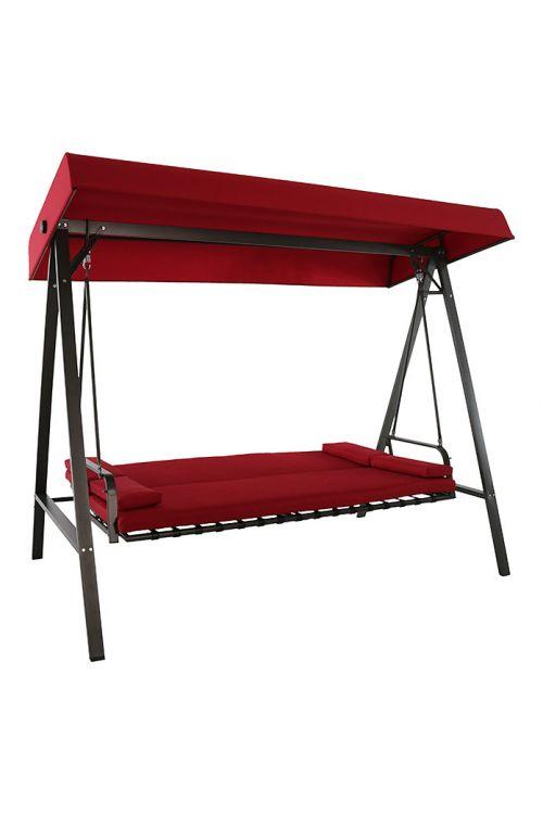 Gugalnica SUNFUN Hollywood Maja (d 230 x š 135 x v 188 cm, nosilnost do 240 kg, jekleno ogrodje, tekstilen, rdeče barve)