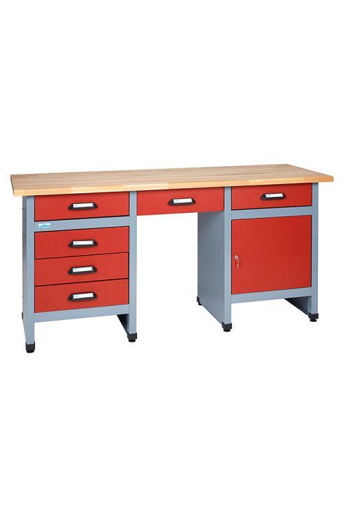 Delovna miza Küpper (60 x 170 x 84 cm, 6 predalov, nosilnost: 300 kg)