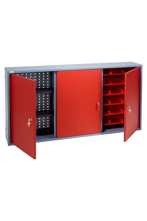 Viseča omarica Küpper (19 x 120 x 60 cm, 2 polici, 18 škatljic, 3 vratca, nosilnost: 30 kg)