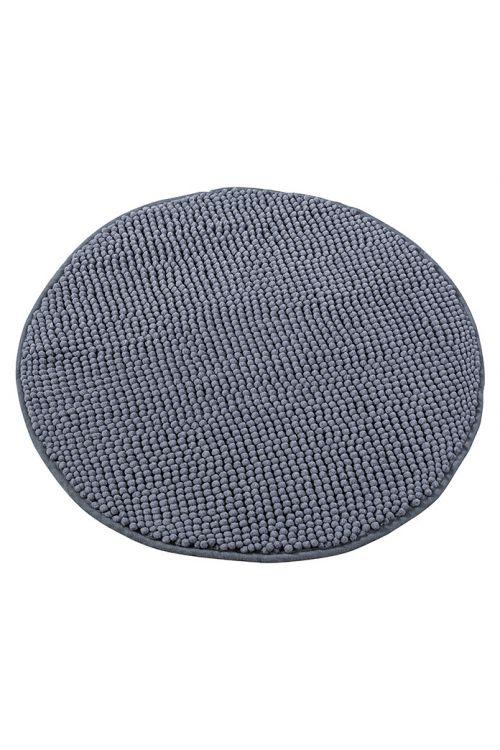 Tepih za kopalnico Camargue Zottel (Ø 55 cm, siv, mikrovlakna)