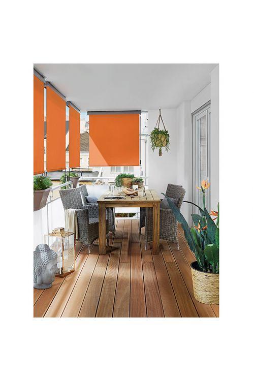 Balkonska zastirka Sunfun  (1,4 x 2,5 m, oranžna, stenska ali stropna montaža)