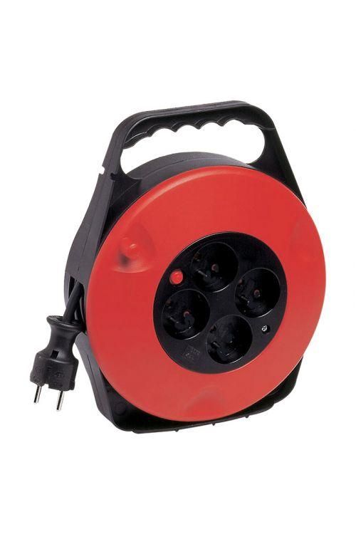 Kabelski boben (10 m, 3.500 W, za notranjo uporabo, črn/rdeč)