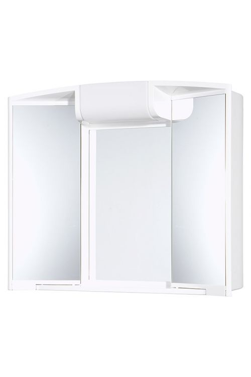 Omarica z ogledalom Jokey Angy (59 x 50 x 15 cm, bela, z osvetlitvijo (sijalka E14 ni priložena))