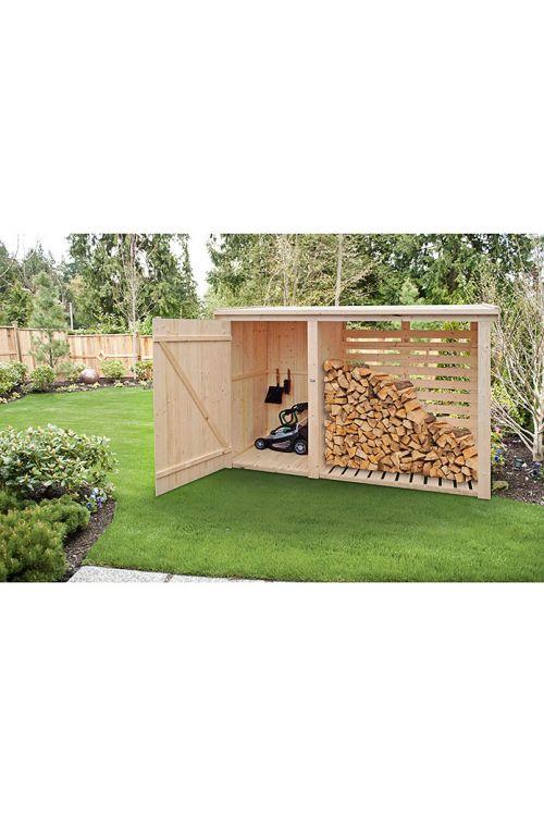 Regal za drva (bor/smreka, Š 240 x V 190 cm, omara za orodje)