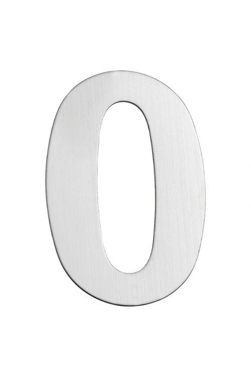 Hišna številka 0 Portaferm (višina: 15 cm, nerjavno jeklo, motiv: 0)