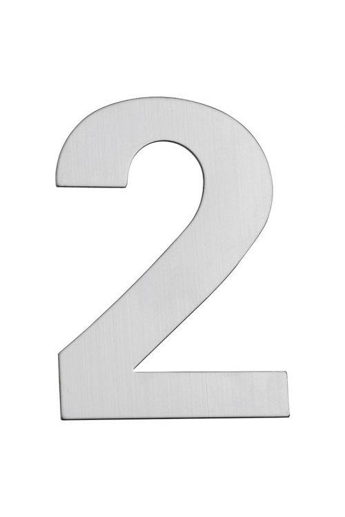 Hišna številka 2 Portaferm (višina: 15 cm, legirano jeklo, motiv: 2)