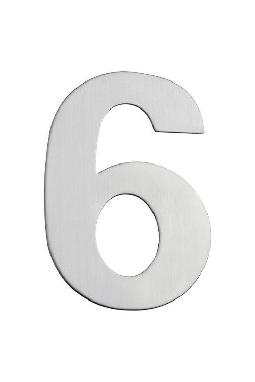 Hišna številka 6 Portaferm (višina: 15 cm, legirano jeklo, motiv: 6)