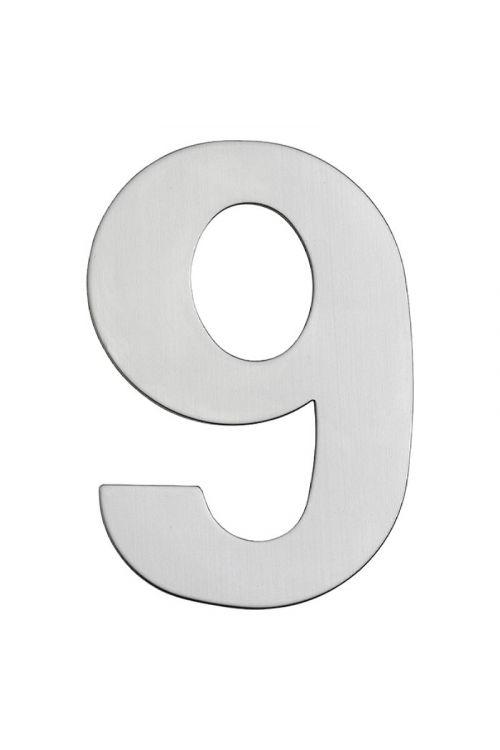 Hišna številka 9 Portaferm (višina: 15 cm, nerjavno jeklo, motiv: 9)