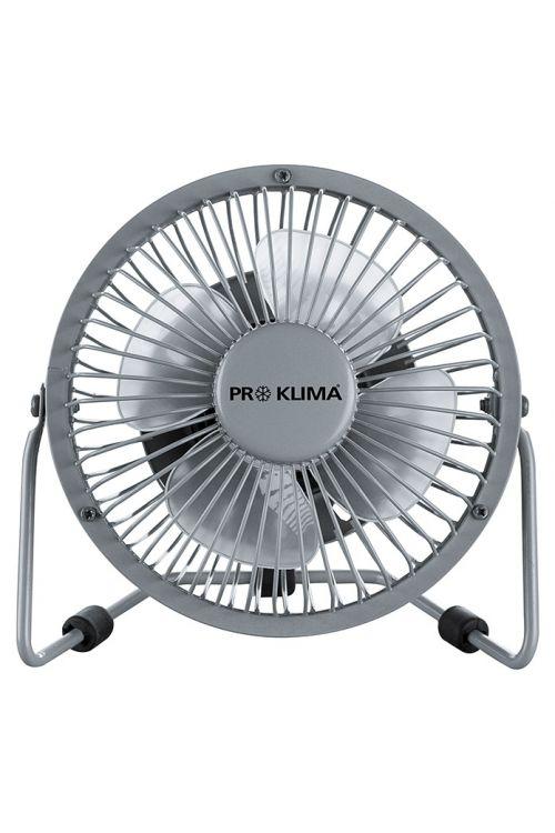 Namizni ventilator Proklima (srebrn, premer: 15 cm, 2,3 W)