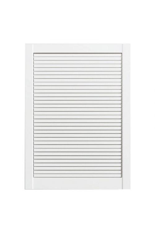 Lamelna vrata ( 71,7 x 59,4 cm, 20 mm, vrsta lamel: zaprte, bela)