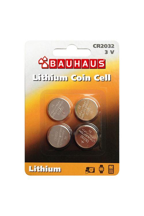 Gumbna baterija BAUHAUS (CR2032, 3 V, 4 kosi)