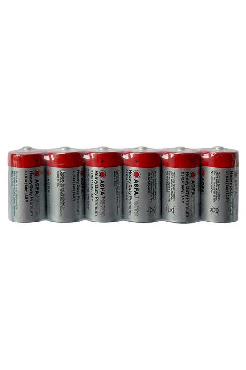 Baterija Heavy Duty (Baby C, cinkov-karbid, 1,5 V, 6 kosov)