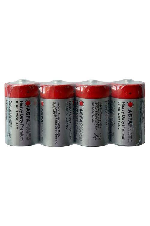 Baterija Heavy Duty (Mono D, cinkov-karbid, 1,5 V, 4 kosov)