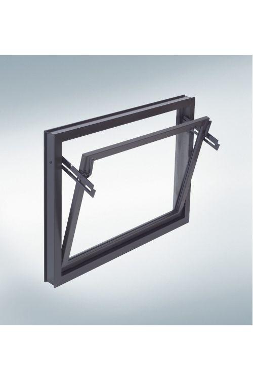 Nagibno okno Mealon (80x40 cm, rjavo)