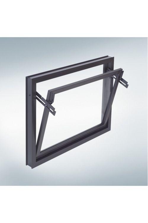 Okno Mealon  (nagibno, 600 x 400 mm, PVC, rjavo)