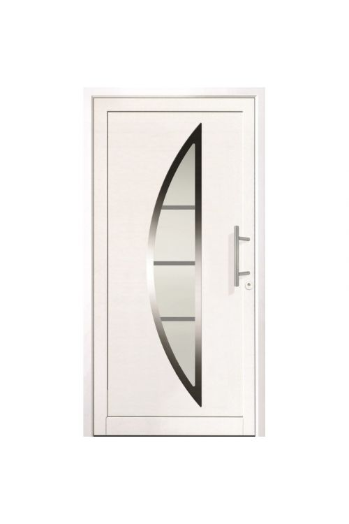 Zunanja vhodna vrata Roro Hera (70 x 1100 x 2100 mm, PVC, bela, leva, brez kljuke)