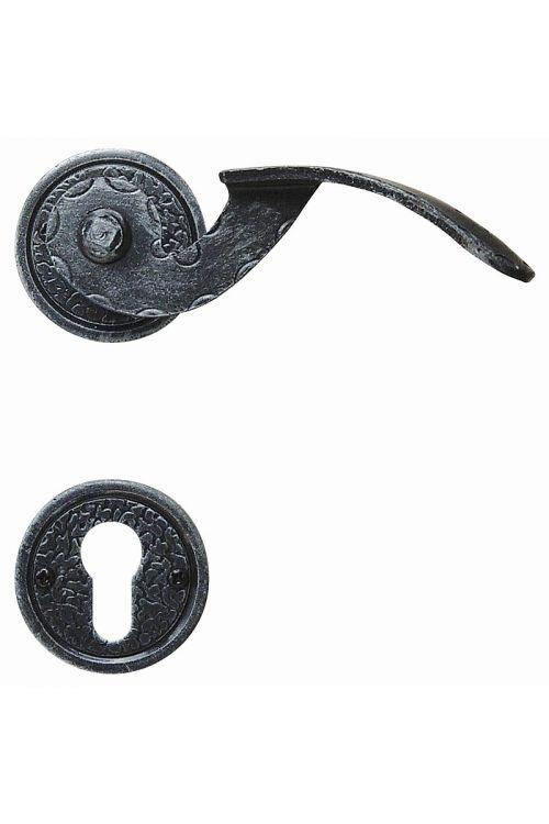 Kljuka za vrata Roro Exclusiv (kovano železo, obojestranska, rjava, z rozeto)