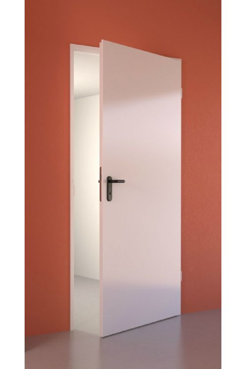 Notranja vrata Hörmann (2000 x 875 mm, kovinska, bela, desna, s kljuko in tesnilom)