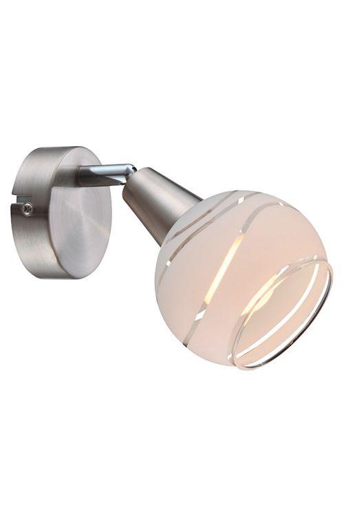 LED-svetilka Globo Elliott (1 svetilo, matiran nikelj, 4 W, toplo bela)