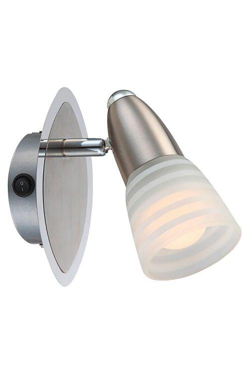 LED stenska svetilka Globo Caleb (4 W, 14,5 x 9 cm, E14, krom)
