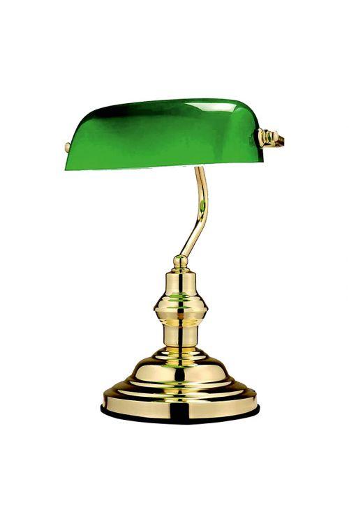 Namizna svetilka Globo Bankerslamp (1 svetilo, maks. moč: 60 W, medenina, višina: 36 cm)