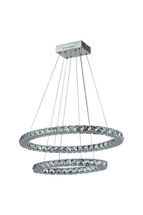Viseča LED-svetilka Tween Light Crystal (2 svetili, 30 W, hladno bela svetloba, višina: 128 cm)