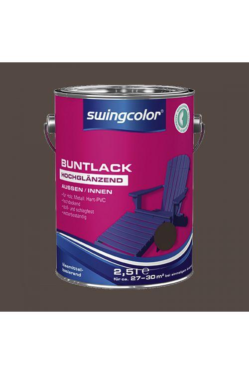 Visokosijoči barvani lak SWINGCOLOR (barva: čokolada; 2,5 l)