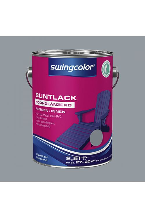 Visokosijoči barvani lak SWINGCOLOR (barva: srebrno siva; 2,5 l)