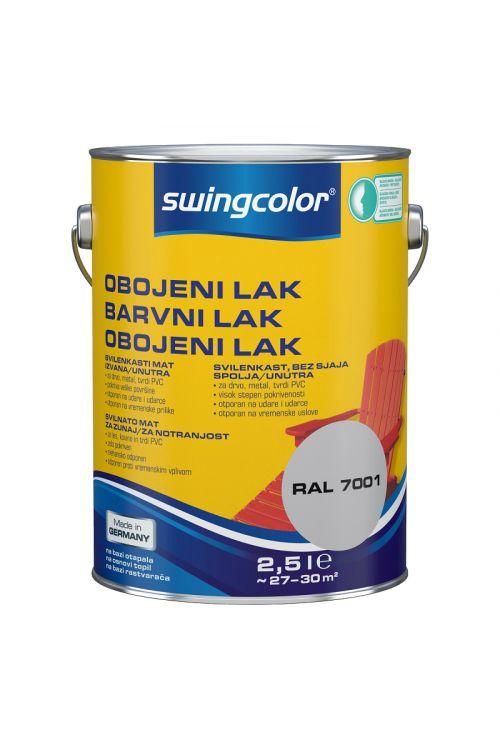 Barvni lak SWINGCOLOR (svilenkasto mat; barva: svetlo srebrno siva; 2,5 l)