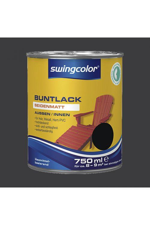 Barvni lak SWINGCOLOR (svilenkasto mat; barva: črna; 750 ml)