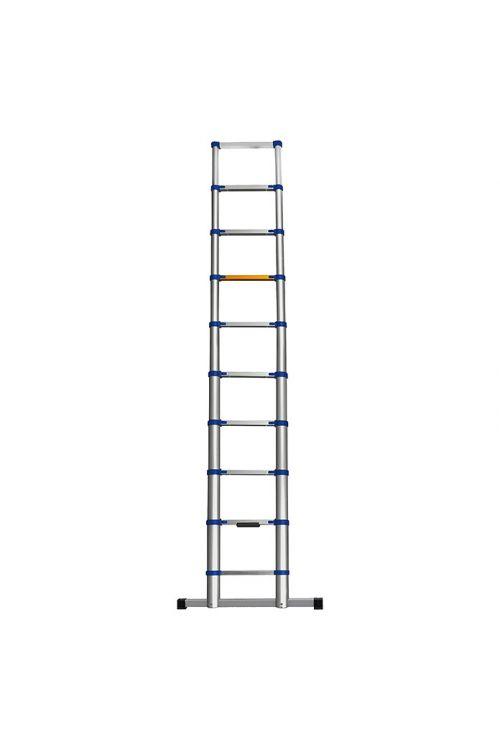 Aluminijasta teleskopska lestev Stabilomat  (delovna višina: 3,8m, transportna dolžina: 0,8 m, nosilnost 150 kg)