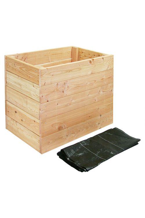 Visoka greda (57,5 x 102 x 72 cm, delovna površina: 0,58 m², macesen)