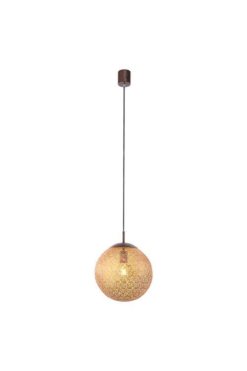 LED VISEČA SVETILKA GRETA (60 W, E27, IP20, premer 30 cm, višina 140 cm, rjava)