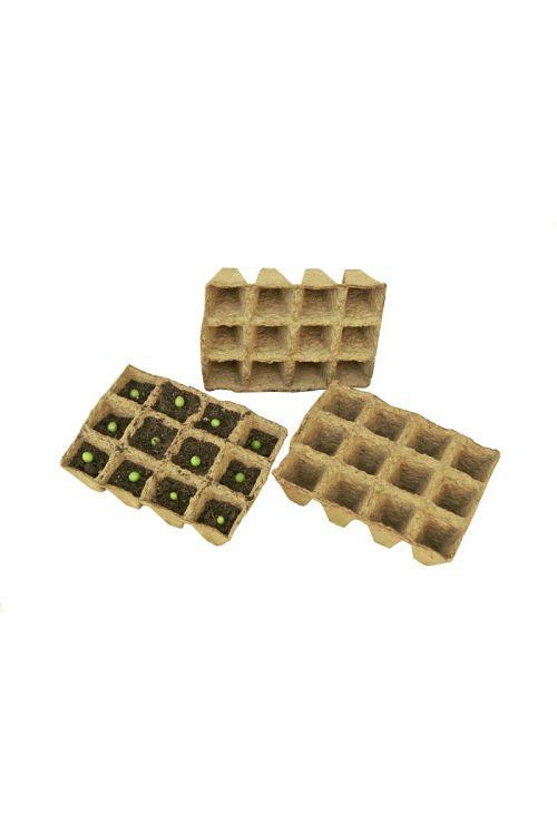 Šotni kvadratni lončki za sajenje (36 lončkov, 3 kosi posode, 4 x 4 cm)