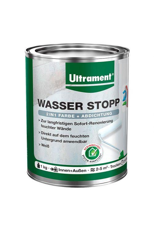 Premaz Ultrament Wasser-Stopp 2 v 1, barva + tesnilna masa (bela, 1 kg)