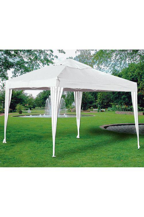 Paviljon SUNFUN Easy Up (d 300 x š 300 x v 250 cm, PE platno 160 g/m², stebri 3 x 3 cm, torba za shranjevanje, bele barve)