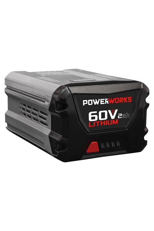 Baterija POWERWORKS P60B2 (za 60 V Powerworks naprave, 2 Ah, moč primerljiva bencinskim napravam)