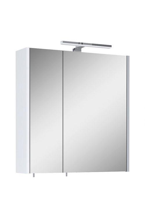Omarica z ogledalom Riva Vulcano (60 x 61,8 cm, z osvetlitvijo, iveral, bela)