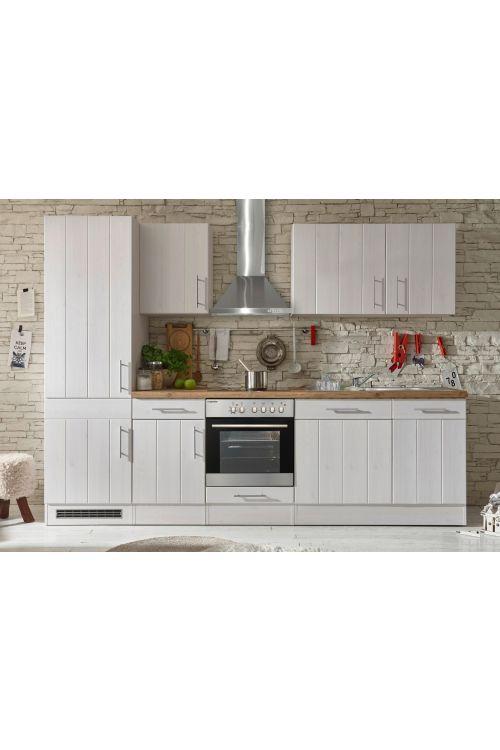 Kuhinjski komplet Respekta Premium BERP (280 cm, z el. napravami, imitacija macesna, bele barve)
